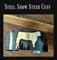 "Show Steer Rustic 1"" Cuff Bracelet"