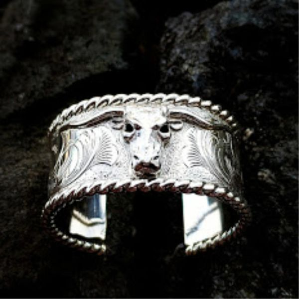 Longhorn Sterling Silver Cuff Bracelet