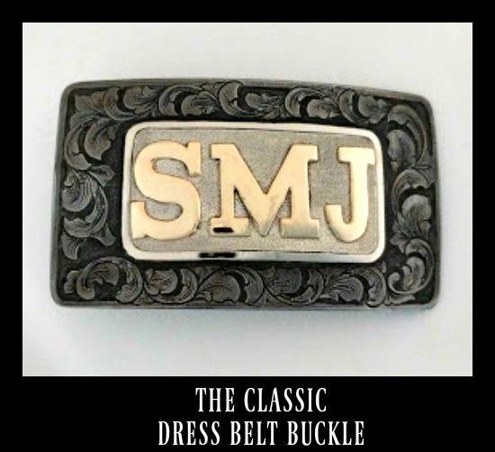 Men's Custom Dress Belt Buckle with Initials