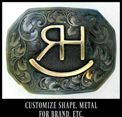 Cattle Brand Belt Buckle