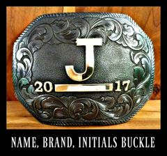 Custom Men's Western Belt Buckle, Personalized
