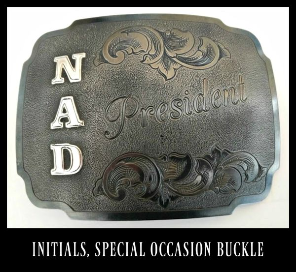 Initials Bar Custom Belt Buckle