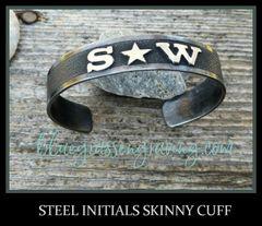 Initials Skinny Cuff Bracelet