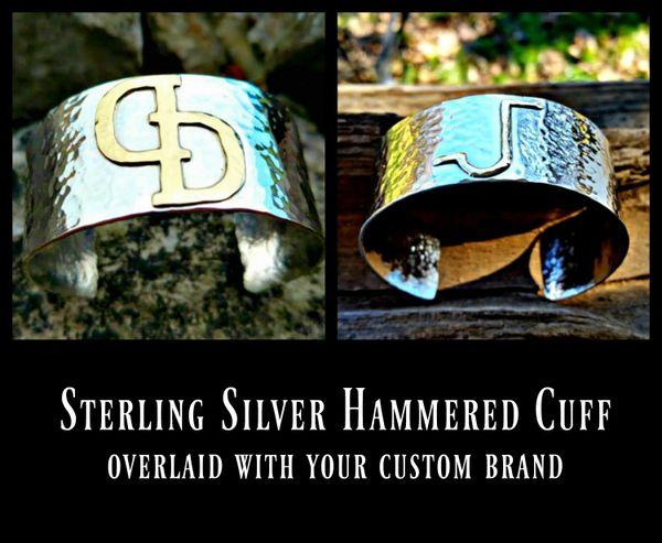 Hammered Cattle Brand Cuff