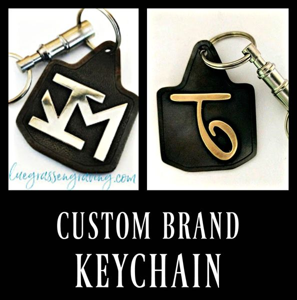 Cattle Brand Keychain, Personalized Cow Tag Key Chain, Steel Keychain, Groomsmen Gifts