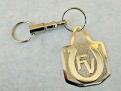 Livestock Tag Nickel Keychain with Your Brand