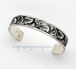 Silver Cuff, Engraved, Half-Inch