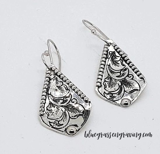 Triska Silver Beaded Earrings