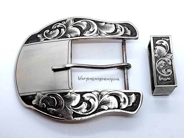 The Maverick, ALL NICKEL BUCKLE, Add Your Brand or Initials