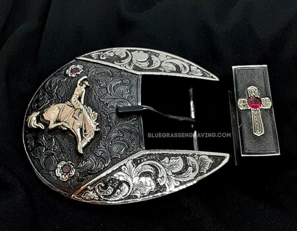 The Traditional with Bronc Rider, Two-Piece Steel Ranger Set