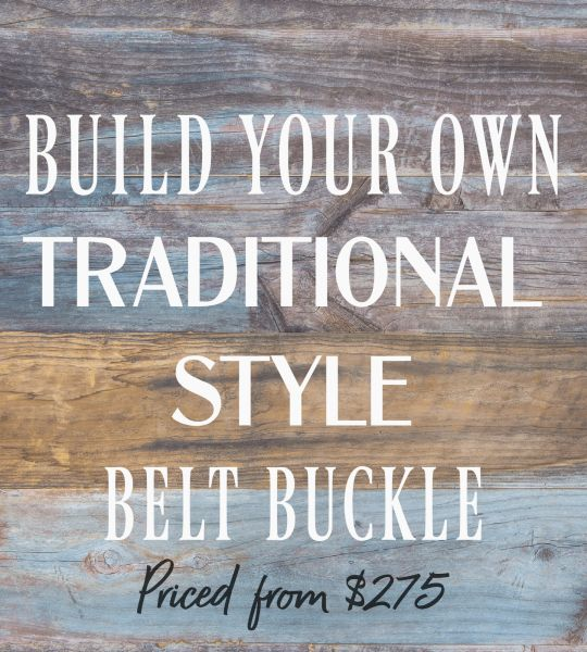 Build Your Traditional Style Belt Buckle