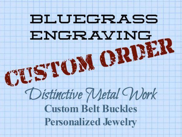 Custom order for Jake B.