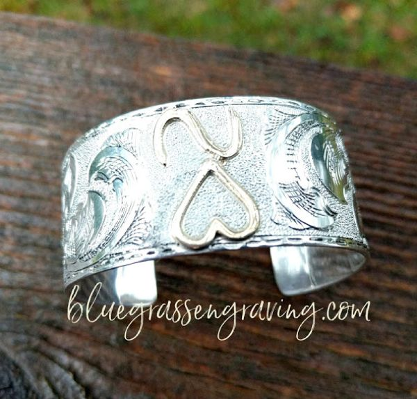Engraved Sterling Silver Brand or Name Cuff