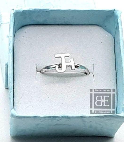 Skinny Silver Brand Ring