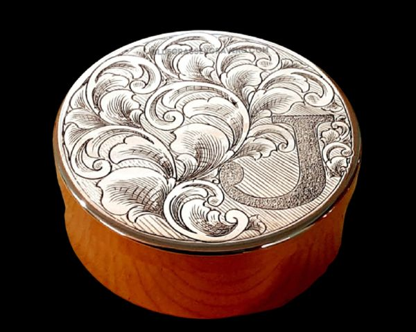 Dip Can Set, Fully Engraved Lid with Initial