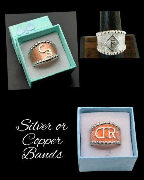 Cattle Brand Ring, Western Copper or Silver Ring