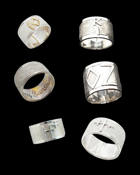 Sterling Silver Cattle Brand Ring