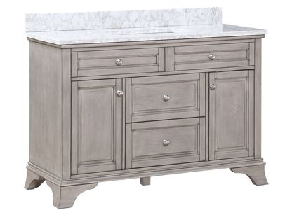 AURAFINA Old Harbor Grey Wainwright Bathroom Vanity