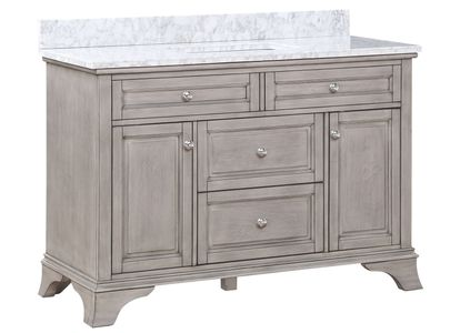 "AURAFINA Old Harbor Grey 48"" Wainwright Bathroom Vanity"