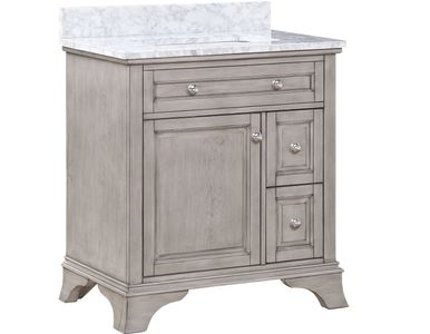 "AURAFINA Old Harbor Grey 30"" Wainwright Bathroom Vanity"