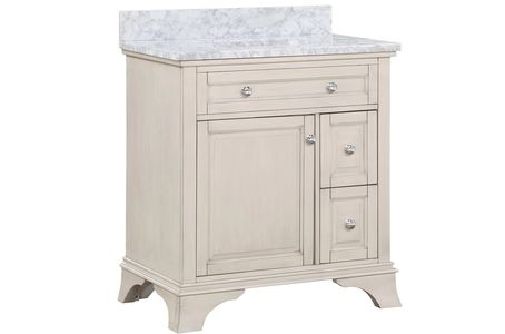 "AURAFINA Rustic White 30"" Wainwright Bathroom Vanity"