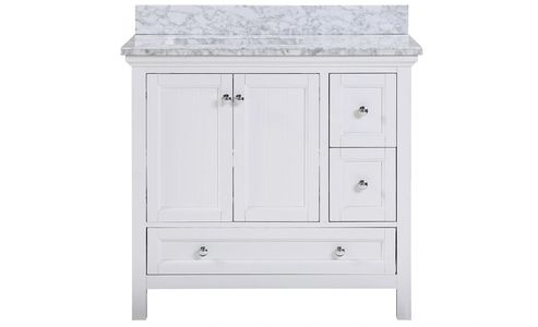 AURAFINA Plantation White Cunningham Bathroom Vanity