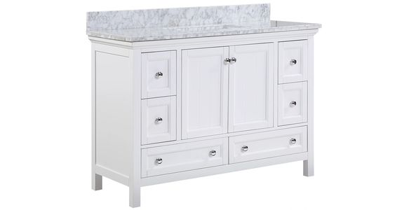 AURAFINA Rustic White Wainwright Bathroom Vanity