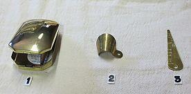 Brass 1700 Tinder Box, Brass Bore Gauge, Brass Flash Guard