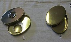 Brass Hudson Bay Tobacco, Brass Oval Tinder Box