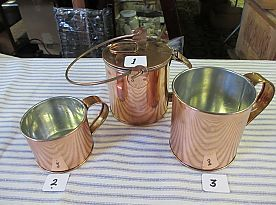 Cups Tin Lined Copper and Corn Boiler