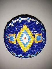 Native American Beaded Ball