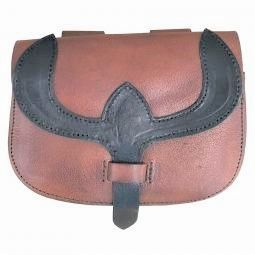 Belt Bag with Two Toned Leather and Flap