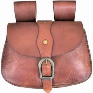 Belt Bag Leather with Buckled flap