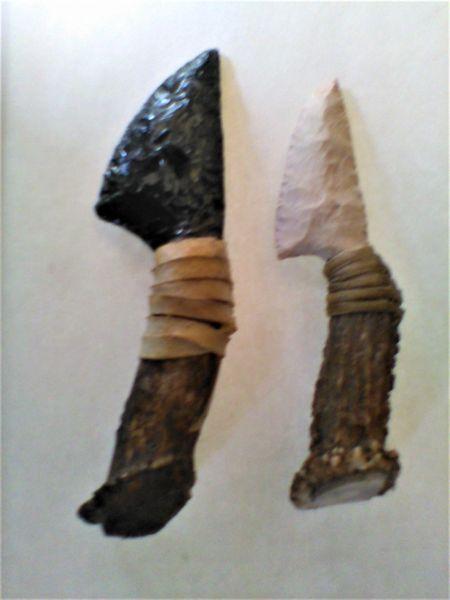 Obsidian or Flint Knives