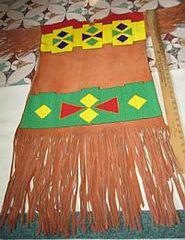 Cherokee Inspired Beaded Indian Dress
