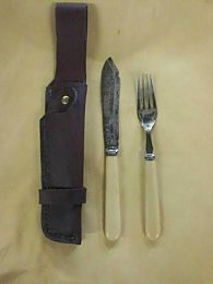 Antique Bone Handled Knife and Fork Set
