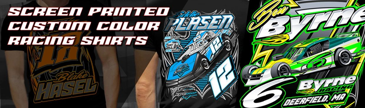 Screen Printed Custom Color racing shirts for drivers