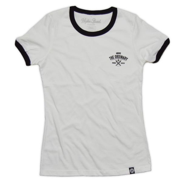 Above the Ordinary - Ladies Ringer Tee