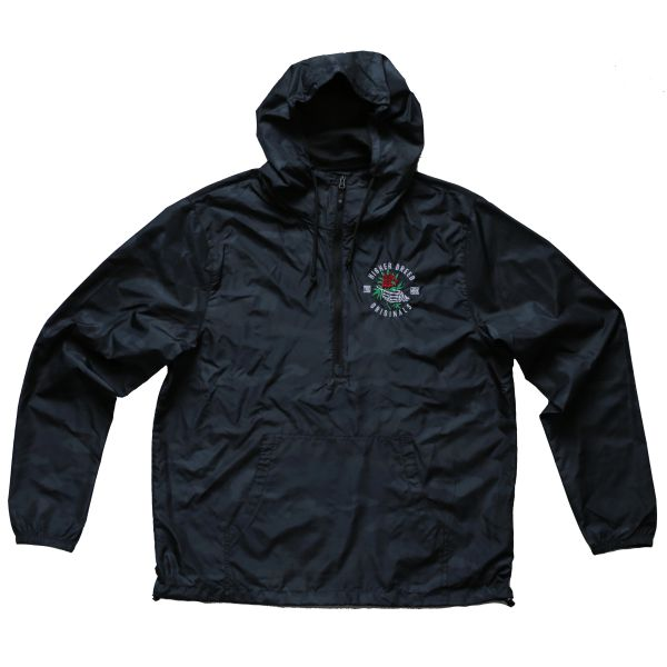 Ordinary is Lethal- Black Camo - Pullover Windbreaker