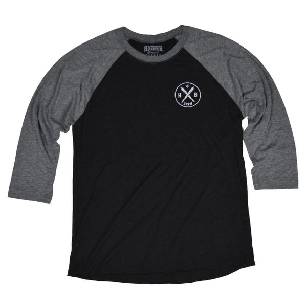 HB Crew Raglan 3/4 Sleeve - Charcoal Grey/dark heather grey