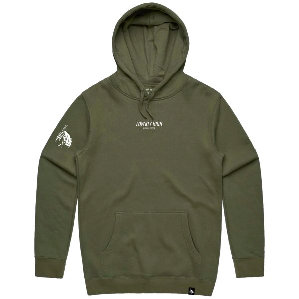 Low Key High - Hoodie - Army Green