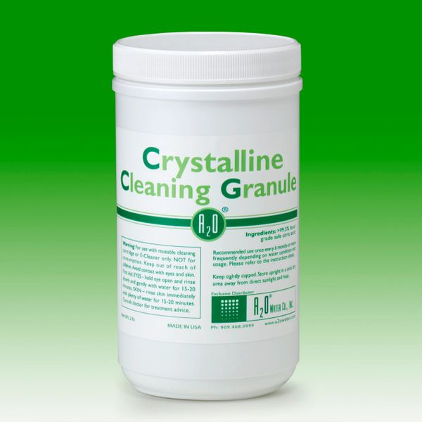 Crystalline Cleaning Granule - 2LBS - For use with reusable cleaning cartridge or E-Cleaner only.