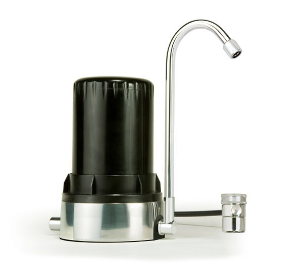 Ayro HT Plus - Countertop Water Filter with Alkaline Minerals & Antioxidants - Black Chrome