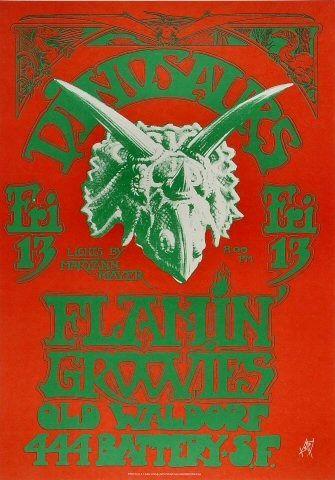 Dinosars poster #1 - Alton Kelley
