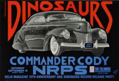 Dinosaurs at the Fillmore poster