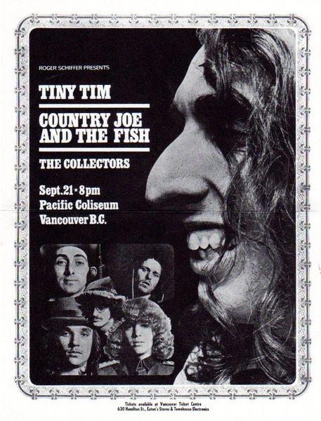 Tiny Tim, Country Joe and the Fish handbill