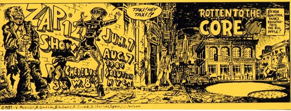 ZAP Comix #12 exhibition/party flyer