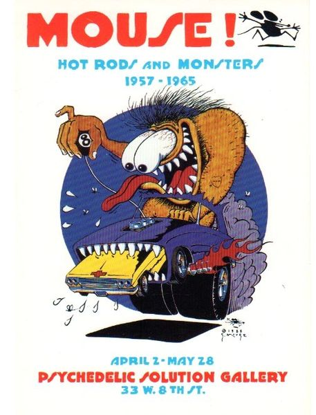 Mouse - Hot Rods and Monsters postcard