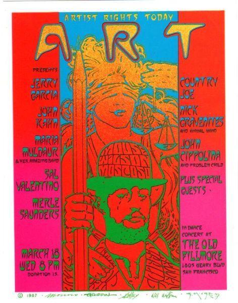 Artist Rights Today III Handbill 1987