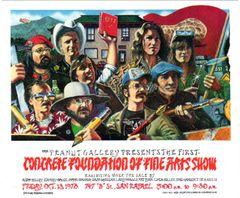 Concrete Foundation of FIne Arts Show postcard